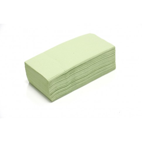 Prosop hartie pliat V Misavan, verde, 1 strat, 250 buc / set