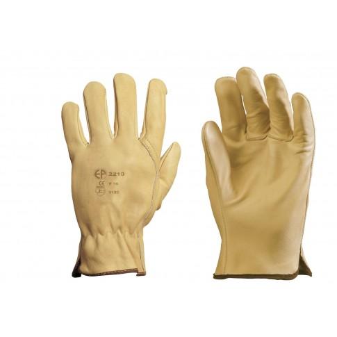 Manusi de protectie Gantex Com 2209, din piele bovina, marimea 9