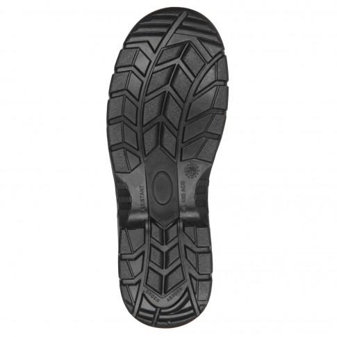Pantofi de protectie Marvel Still BS102, cu bombeu metalic, piele PU neagra, S3 SRC, marimea 44