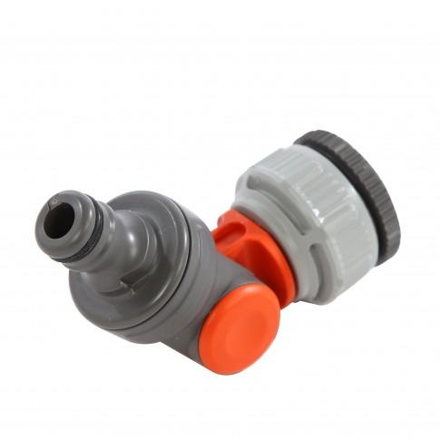 Conector furtun Gardena 02999-20, unghiular, plastic, 3/4 - 1 inch