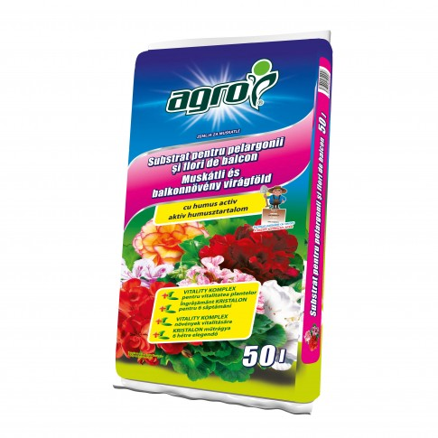 Pamant pentru muscate si flori de balcon Agro CS 50 l