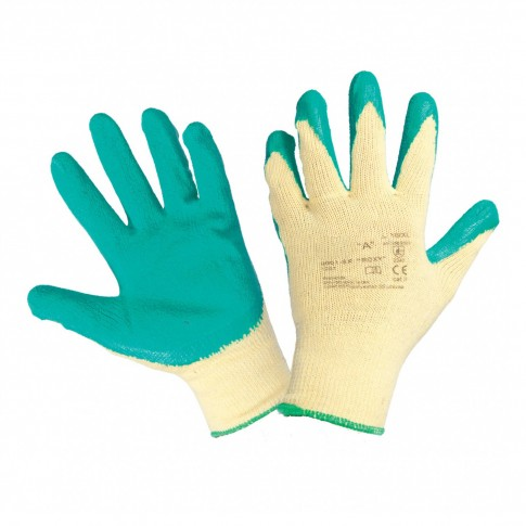 Manusi de protectie antiintepatura, textil + latex natural, marimea 10, Gantex Com EM32