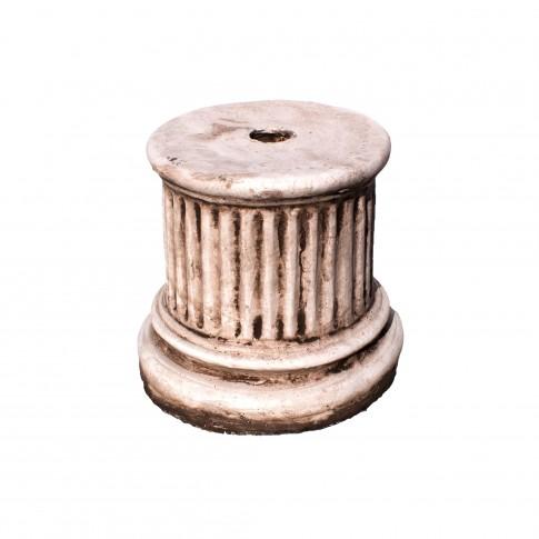 Soclu  rotund, decoratiune gradina, beton, 22 x 23 cm