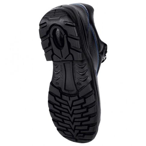 Pantofi de protectie Cindrel cu bombeu metalic, piele + textil, negru, S1P, marimea 40