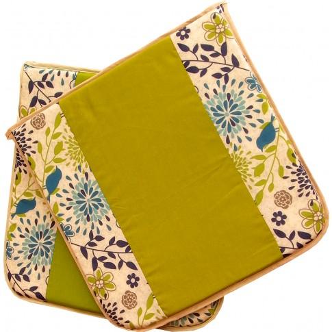 Set perne pentru scaun, bumbac + textil netesut, 39 x 39 x 3 cm