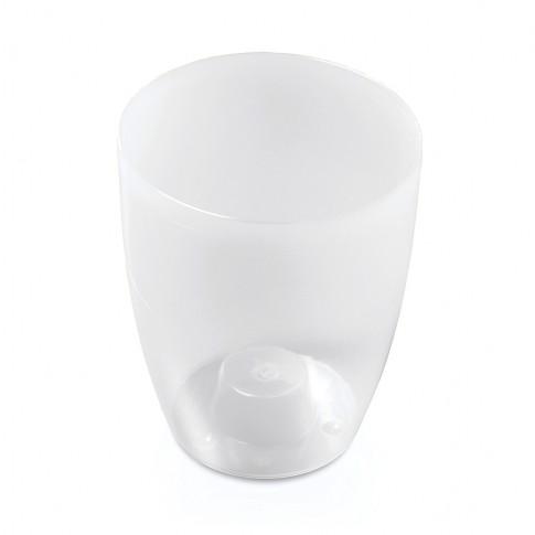 Masca ghiveci orhidee Douw, rotunda, plastic, gri, D 13 cm