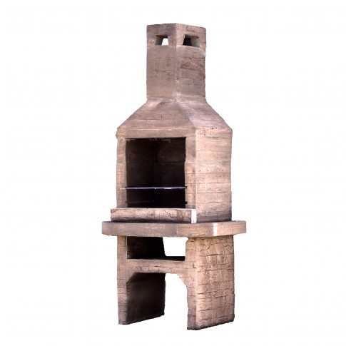 Gratar gradina, cu carbuni, Etna, fix, din beton, 92 x 61 x 200 cm