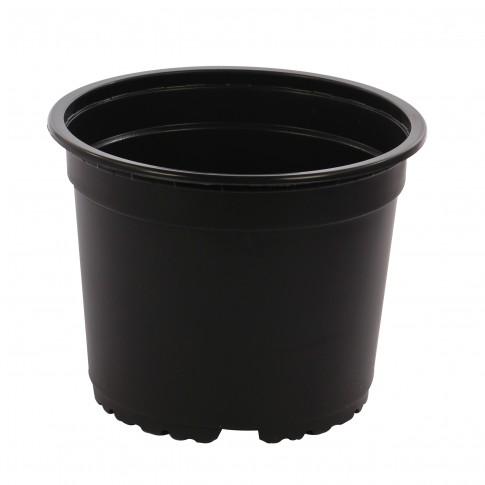 Ghiveci rasad, plastic, negru, D 15 cm