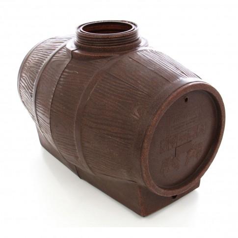 Butoi plastic alimentar, pentru vin Mantzaris, cu capac, 360 litri, maro D 73 cm + canea si aerisitor