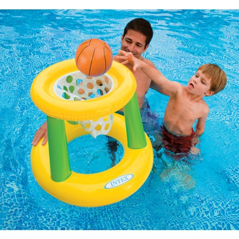 Cos baschet gonflabil + minge, pentru piscina Intex 58504NP,  67 x 55 cm