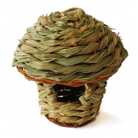 Casuta pasari gradina t2, material vegetativ, 140 x 130 mm