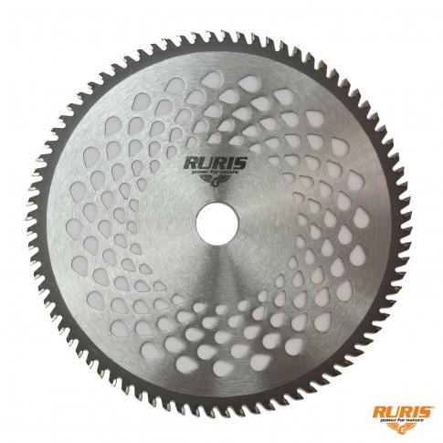 Disc motocoasa pentru tuns iarba, Ruris, otel, 80 dinti cu vidia tip 1, D 250 mm