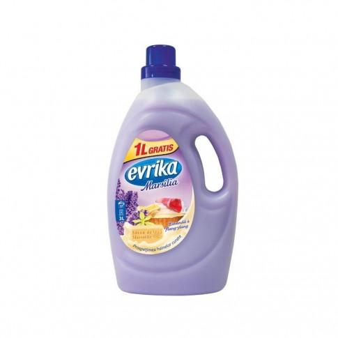 Detergent de rufe, lichid, Evrika, lavanda, 2L + 1L gratis