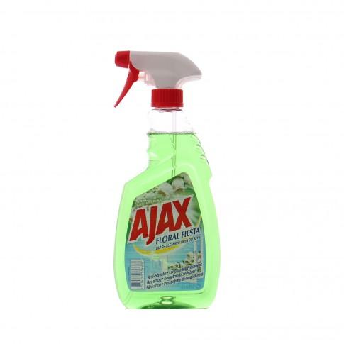 Detergent geamuri Ajax Spring Flowers, cu pulverizator, 500 ml