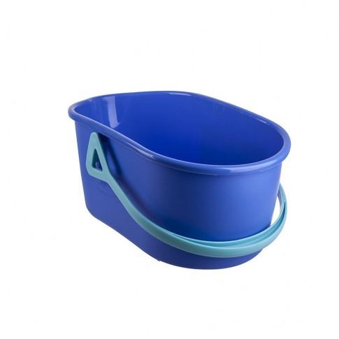 Galeata din plastic, Quick Max Profi Spontex, ovala, albastra, 10 L