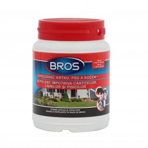 Repelent impotriva cartitelor, cainilor si pisicilor, Bros, 450 ml