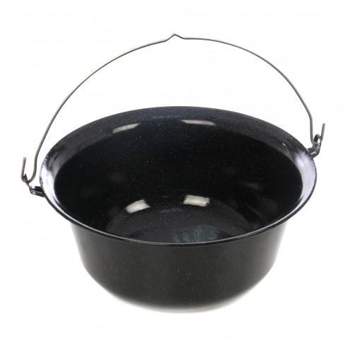 Ceaun emailat, cu maner, negru, 15 L, D 42 cm