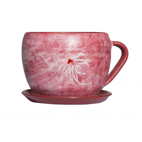 Ghiveci ceramic Cana, rotund, 15 x 13 cm