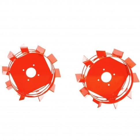 Roti metalice pentru motocultor Ruris TS103, d 35 cm (1 bucata = 1 set 2 roti)