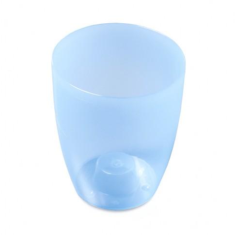 Masca ghiveci orhidee Coubi, rotunda, plastic, albastru, D 13 cm