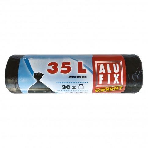 Saci menajeri / gunoi Alufix Economy, negru, 35L, 30 buc