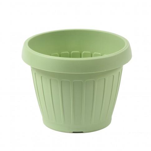 Ghiveci din plastic Dalia, verde oliv D 20 cm