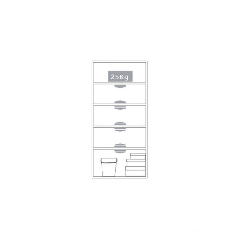 Dulap pentru gradina ArtPlast Evolution, 2 usi, 70 x 47x 178 cm