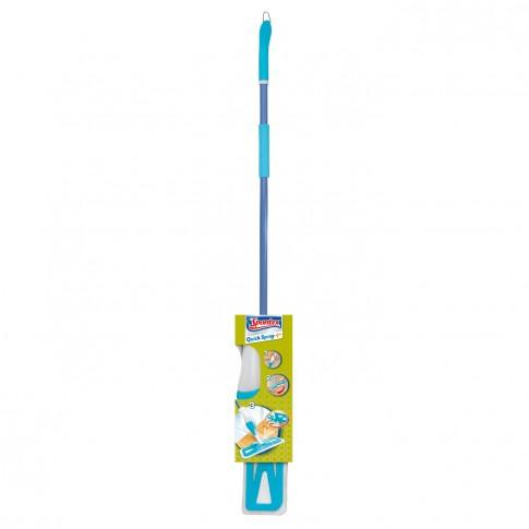 Mop plat microfibra Quick Spray Spontex + coada + rezervor 0.5L + sistem de pulverizare, 12 x 15 x 144 cm