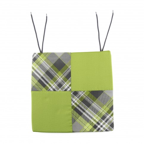 Perna pentru scaun, diverse culori, bumbac + poliester, 39 x 39 x 3 cm
