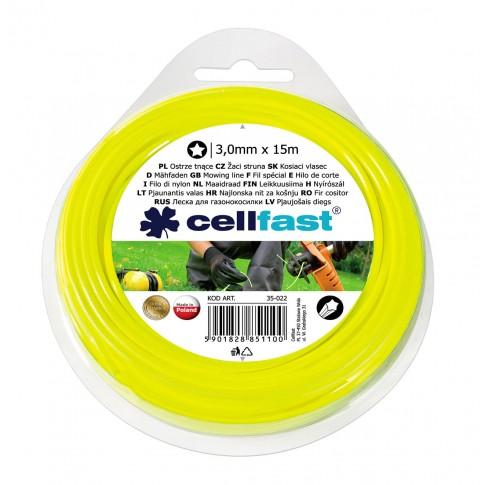 Fir motocoasa Cell Fast, profil stea, PVC, 3 mm x 15 m