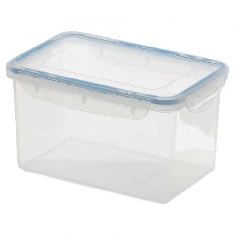 Cutie depozitare pentru alimente, click-clack, Agora Plast, polipropilena, transparenta, 2 L