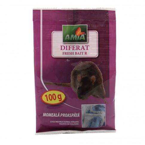 Momeala pentru combatere soareci, sobolani, Diferat Fresh bait R 100 gr