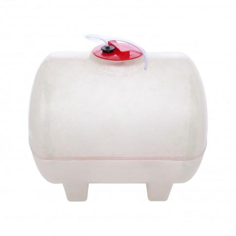 Butoi fibra de sticla, pentru vin Fibromar, cu capac, 200 litri, alb D 60 cm