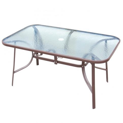 Set masa dreptunghiulara, cu 6 scaune, pentru gradina Siena, din metal cu textilen