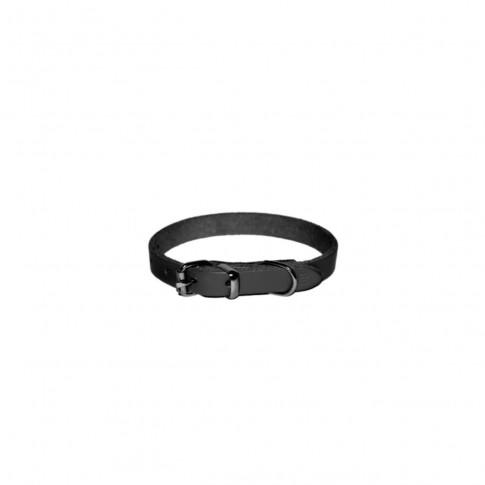 Zgarda pentru caini, simpla neagra, 20/450 mm