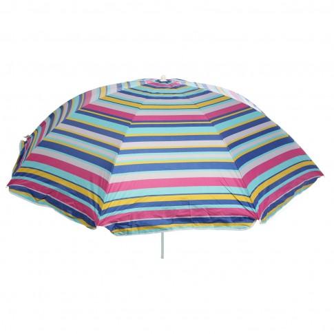 Umbrela soare pentru terasa D12609 rotunda structura metal multicolor D 220 cm/8