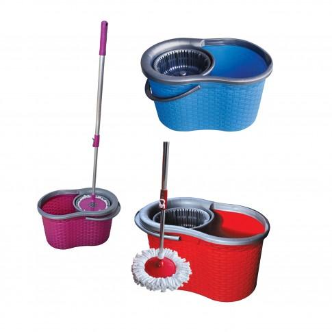 Mop microfibra + coada 2 segmente + galeata + storcator 360, 20L