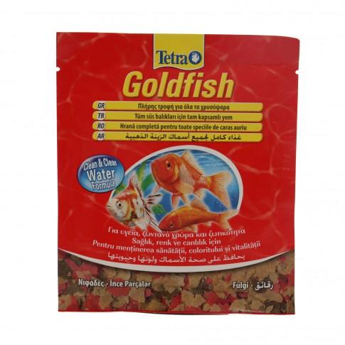 Hrana pesti Tetra Goldfish, pentru specii de caras auriu, fulgi, 12 g
