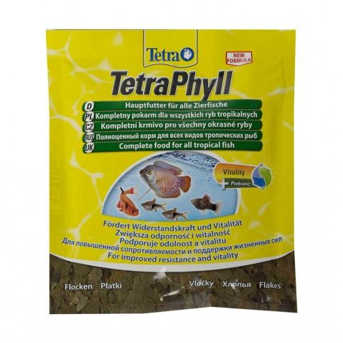 Hrana pesti TetraPhyll, pentru pesti ornamentali ierbivori, fulgi, 12 g