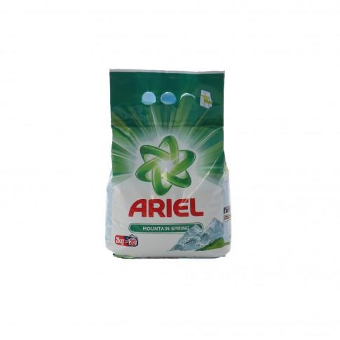 Detergent rufe, automat, Ariel Mountain Spring, 2 kg