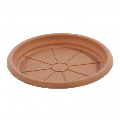 Farfurie ghiveci Dalia 16, plastic, crem, D 13.8 cm