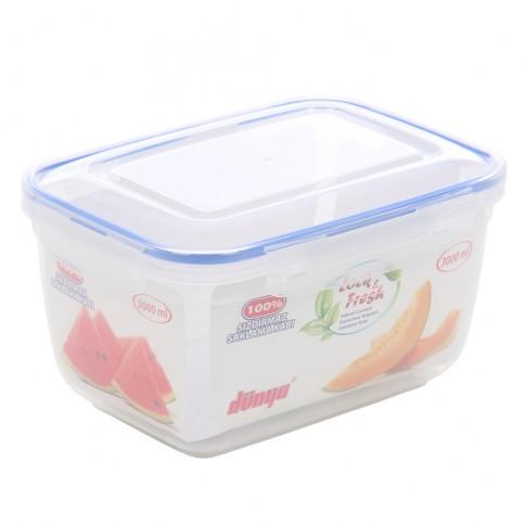 Cutie depozitare pentru alimente cu capac etans, Inaplast, 30124, plastic, transparenta, 3 L