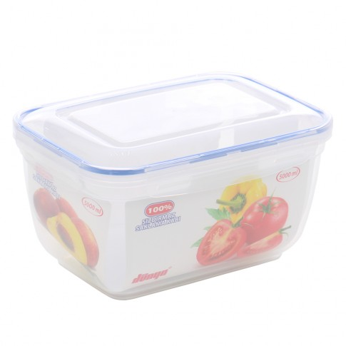 Cutie depozitare pentru alimente cu capac etans, Inaplast, 30125, plastic, transparenta, 5 L