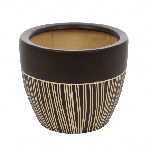 Ghiveci ceramic 112099RO, rotund, 21 x 18 cm