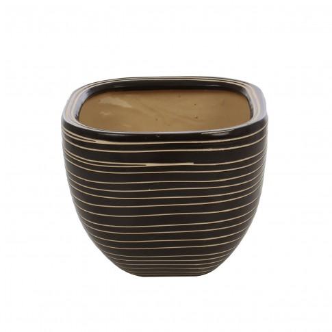 Ghiveci ceramic 112099SQ, patrat, 21 x 18 cm