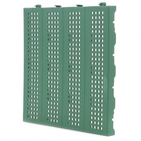 Placa podea cu drenaj, PVC, exterior, verde, 400 x 33 x 400 mm