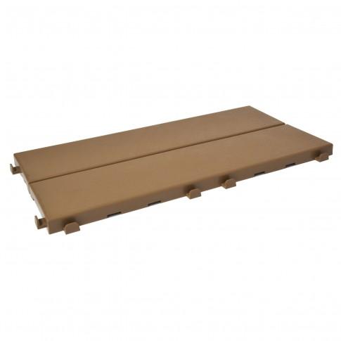 Placa podea exterior Easyplate, PVC, capucino, 40 x 20 cm