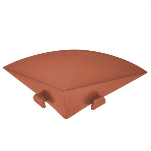 Element inchidere colt pardoseala exterior, PVC, caramiziu, 10 x 10 cm