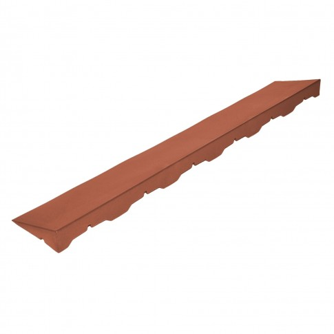 Element inchidere pardoseala exterior, PVC, caramiziu, F, 40 x 10 cm