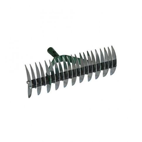 Aerator manual pentru gazon, Dupu 896 R162, otel, cu coada din lemn, 140 cm